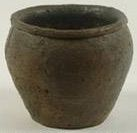 Early Iron age Pot with beaded rim