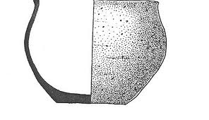 Iron age bowl from Beckford.