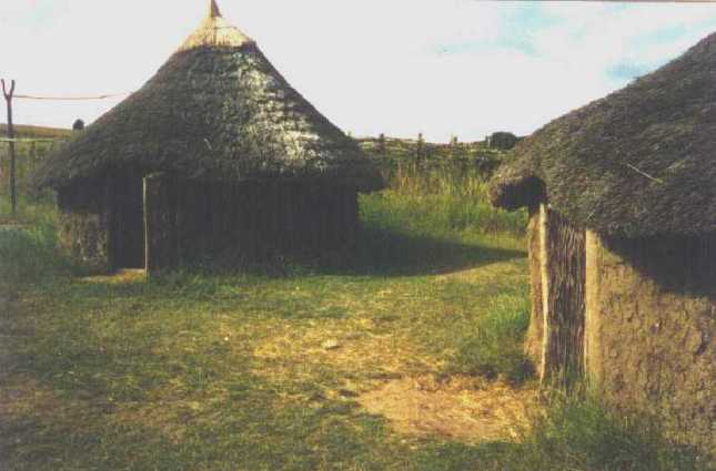 Iron age roundhouse from Glastonbury