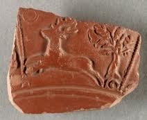 Samian ware pottery sherd