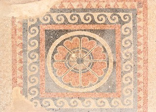 Mosaic from Herods Palace Masada