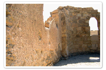 Walls of a Christain Church on top of Masada