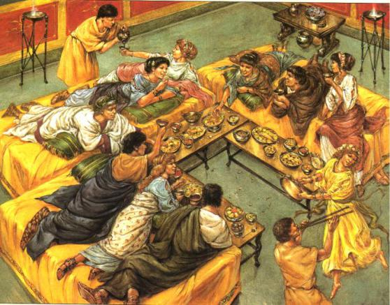A feast for the upper class Romans
