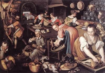 A medieval Kitchen scene