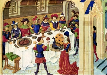 Scene of a Medieval Banquet