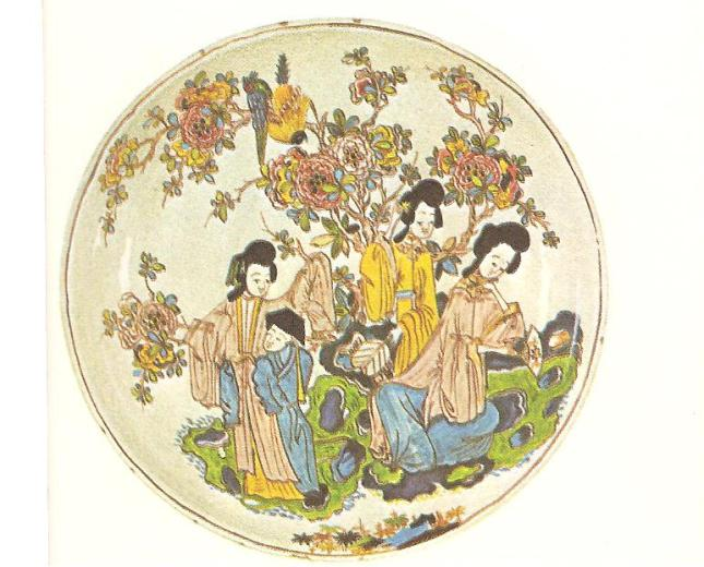Delft Dish copying Chinese porcelain