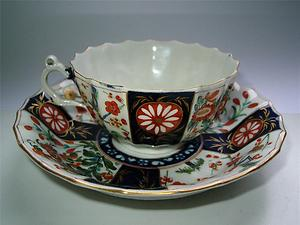 Dr Wall period Cup and Saucer