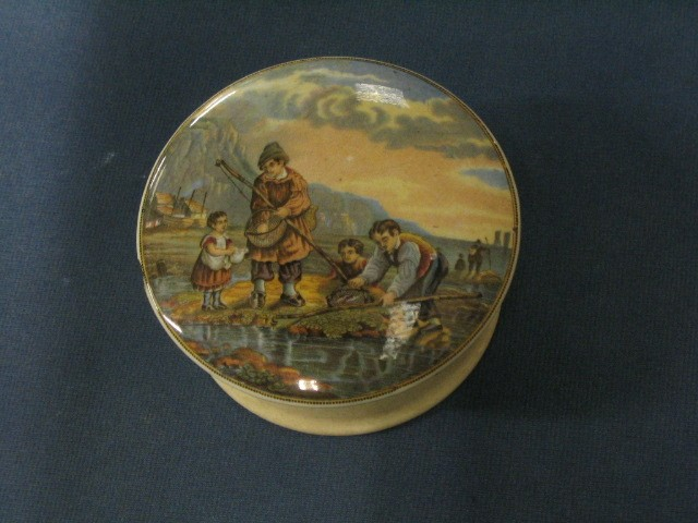 Pratt ware Pot lid  The Shrimping Scene
