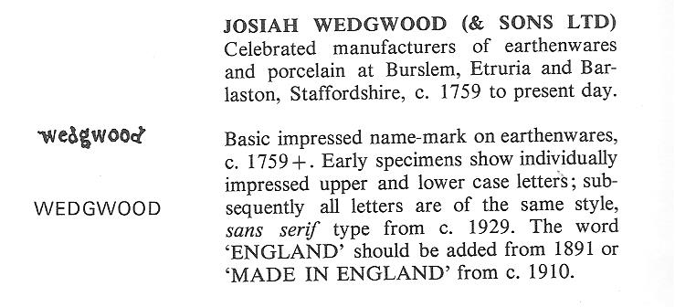 wedgwood pottery markings