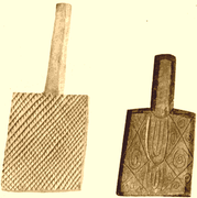Cherokee stamping paddles,used to imprint designs in pottery