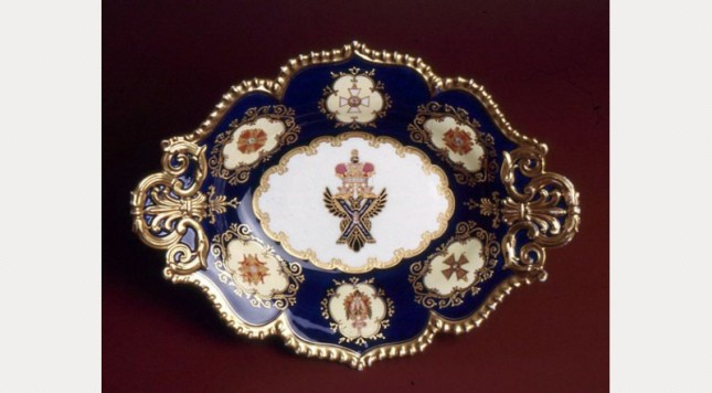 Coalport centrepiece made for the visit of Tsar Nicholas l to England l845