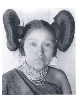 Hopi unmarried woman butterfly hairstyle