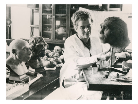 Lucile Swan Re creating a model of Peking man