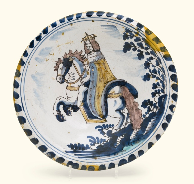 Delft blue dash charger Royal portrait poss William lll