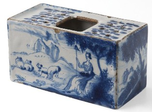Delftware Flower Brick