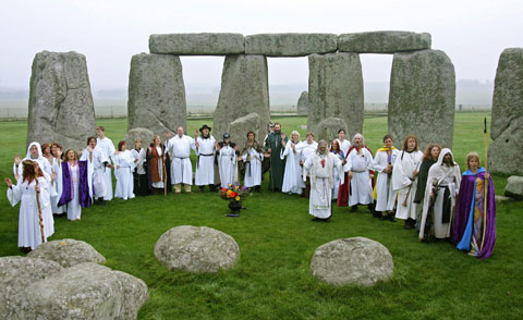 Druids at Stonehenge 2006