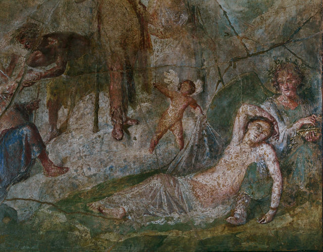 Ariadne & Dionysus Fresco Pompeii