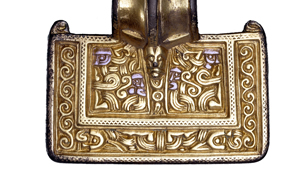 silver-gilt brooch detail