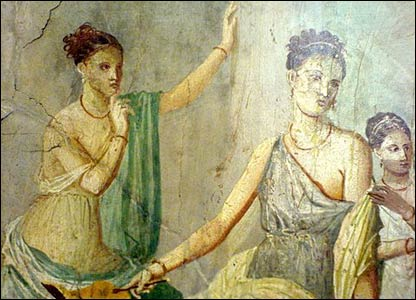 Fresco two ladies from Pompeii