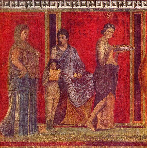 Fresco Villa of the Mysteries Pompeii