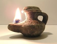 Roman clay oil lamp.