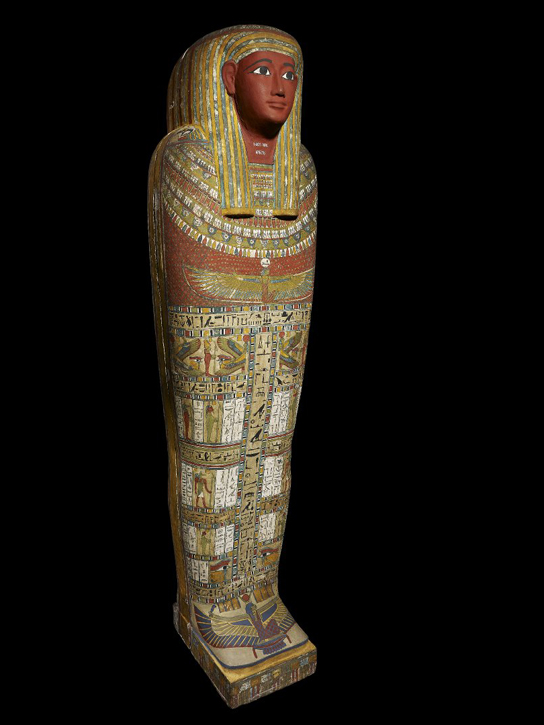 Mummy of a Priest of Amun and Bastet, named Penamunnebnesuttawy. Found at Thebes, Egypt, 25th-26th Dynasty, about 760-525 BC. (AES EA6676)