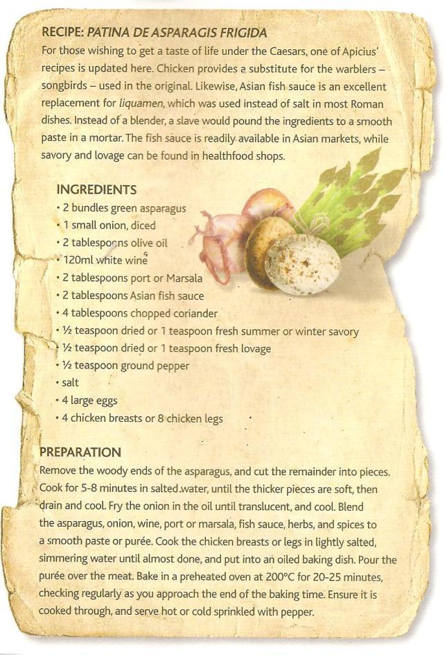 Roman recipe Asparagus