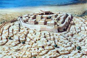 An artist's impression of Troy VIh/VIi in around 1400 BC http://www.historyfiles.co.uk/KingListsMiddEast/AnatoliaTroy.htm