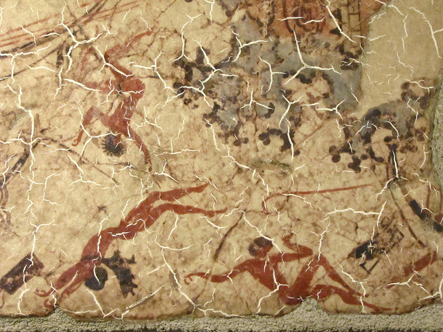 Fresco from Akrotiri Acrobats