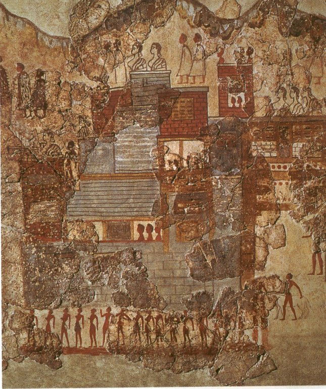 Fresco from Akrotiri. Everyday life