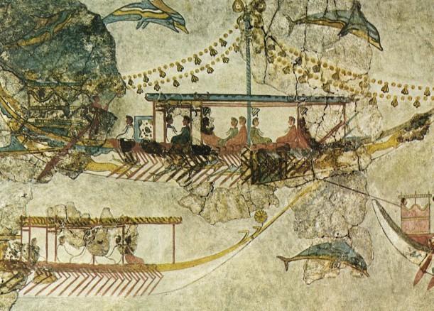 Fresco Miniature ships Akrotiri