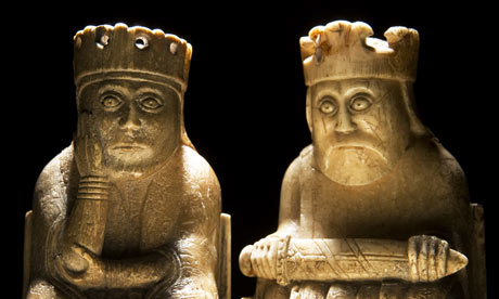 A Queen and a King from Medieval Lewis Chess sets.