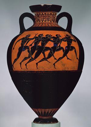 Black glazed amphorae