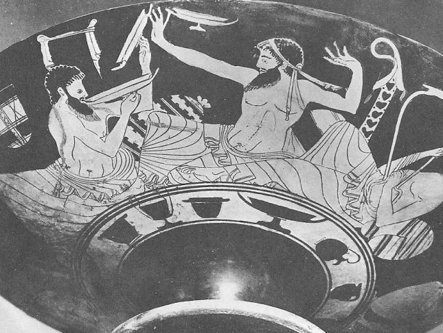 The drinking party Kylix