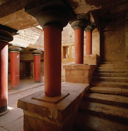 Knossos Stairwell to the main living quarters