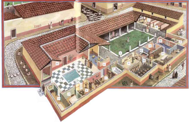 Reconstruction of a Roman villa