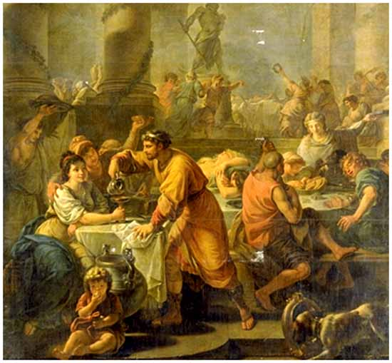 Roman dinner party