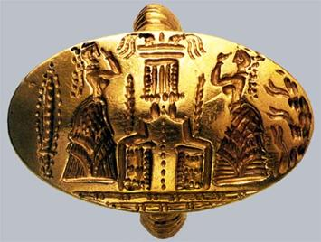 minoan-gold-ring-showing-worshippers