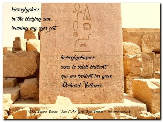 haiku hieroglyphics Karnak