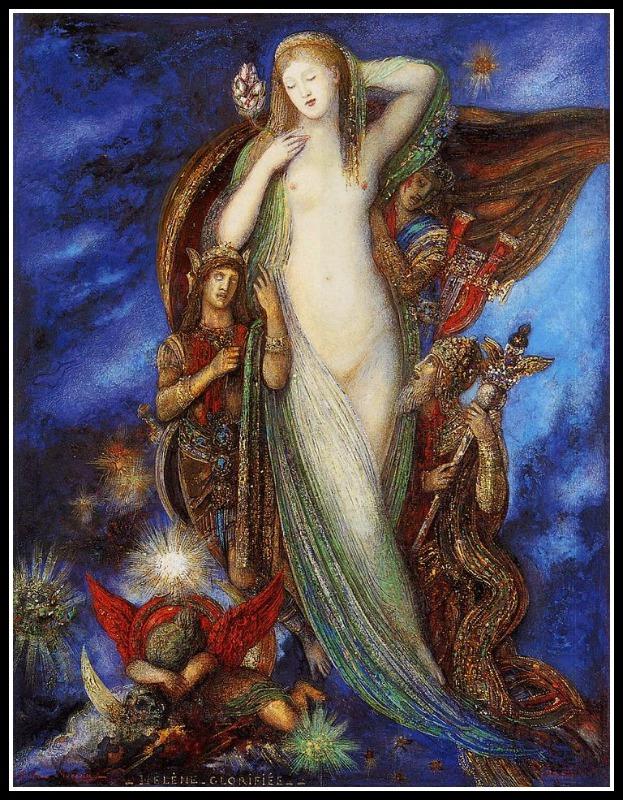 """""""Helene glorifee"""" by Gustave Moreau (1897)."""