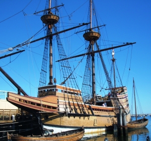 This nearly exact replica of the original Mayflower is permanently docked in Plymouth Harbor, not far from where the original vessel first dropped anchor in December 1621.